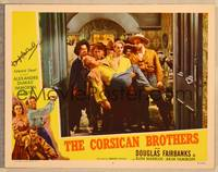 1d014 CORSICAN BROTHERS signed LC #7 R47 by Douglas Fairbanks Jr., holding unconscious twin brother!