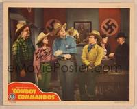 1d016 COWBOY COMMANDOS signed LC '43 by Evelyn Finley, who's with cowboys in Nazi headquarters!