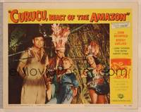 1d017 CURUCU, BEAST OF THE AMAZON signed LC #7 '56 by Beverly Garland, who's captured by natives!