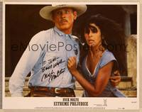 1d021 EXTREME PREJUDICE signed LC #3 '86 by Nick Nolte, who's close up with Marie Conchita Alonso!