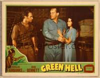 1d027 GREEN HELL signed LC #5 R47 by Douglas Fairbanks Jr., with George Sanders & Joan Bennett!