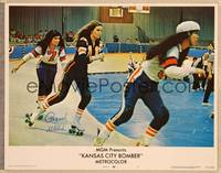 1d029 KANSAS CITY BOMBER signed LC #1 '72 by Raquel Welch, who's skating in the roller derby!
