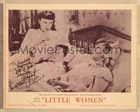 1d033 LITTLE WOMEN signed LC #5 R62 by Margaret O'Brien, who's being put to bed by June Allyson!