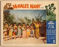 1d036 McHALE'S NAVY signed LC #6 '64 by Ernest Borgnine, who's with seven sexy Hawaiian girls!