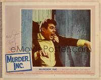 1d037 MURDER INC. signed LC #2 '60 by Stuart Whitman, who's being grabbed from behind!