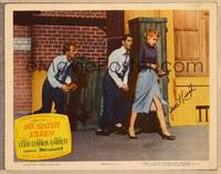 1d038 MY SISTER EILEEN signed LC '55 by Janet Leigh, who's being accosted on the street!