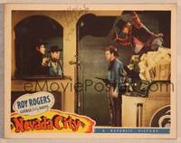 1d039 NEVADA CITY signed LC '41 by Fred Kohler, who's about to ambush Roy Rogers from behind!
