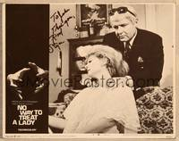 1d041 NO WAY TO TREAT A LADY signed LC #8 '68 by psychopath Rod Steiger, about to strangle girl!