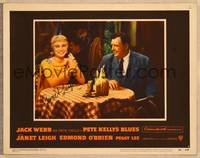 1d045 PETE KELLY'S BLUES signed LC #5 '55 by Janet Leigh, smiling at table with Andy Devine!