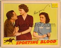 1d051 SPORTING BLOOD signed LC '40 by Robert Young, who's with Maureen O'Sullivan & Lynne Carver!