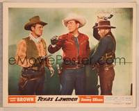 1d058 TEXAS LAWMEN signed LC #7 '51 by I. Stanford Jolley, who's about to whack Johnny Mack Brown!