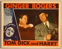 1d060 TOM, DICK & HARRY signed LC '41 by Burgess Meredith, who's winking with George Murphy in car!