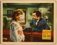 1d063 WESTERN UNION signed LC #5 R57 by Robert Young, who's close up with Virginia Gilmore!