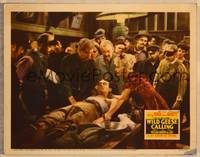 1d065 WILD GEESE CALLING signed LC '41 by Joan Bennett, who is tending to wounded Henry Fonda!