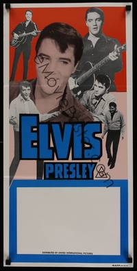 1s429 ELVIS PRESLEY STOCK Aust daybill 70s six great images of the rock  roll king performing