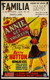 2b022 ANNIE GET YOUR GUN Belgian '50 Betty Hutton as the greatest sharpshooter, Howard Keel
