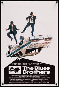 2b049 BLUES BROTHERS Belgian '80 John Belushi & Dan Aykroyd are on a mission from God!