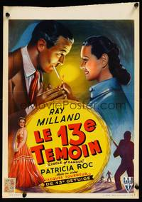 2b073 CIRCLE OF DANGER Belgian R55 Ray Milland is a man on a manhunt, directed by Jacques Tourneur!