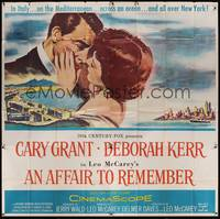 3a002 AFFAIR TO REMEMBER 6sh '57 romantic close-up art of Cary Grant about to kiss Deborah Kerr!