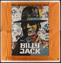 3a003 BILLY JACK int'l 6sh '71 best completely different art of Tom Laughlin by Ermanno Iaia!