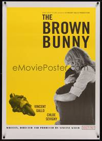 3a036 BROWN BUNNY 1sh '03 Vincent Gallo, Chloe Sevigny, most controversial sex movie!