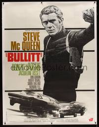 3a068 BULLITT linen French 1p R70s great close up of Steve McQueen, different car chase image!