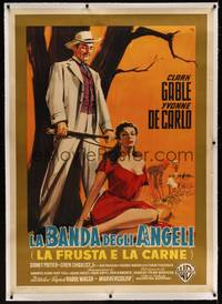 3a052 BAND OF ANGELS linen Italian 1p '57 different art of Gable & sexy slave De Carlo by Nano!