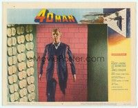 3a275 4D MAN LC #5 '59 best special effects image of Robert Lansing walking through wall of stone!