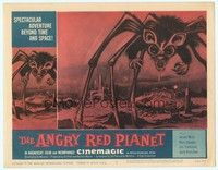 3a279 ANGRY RED PLANET LC #8 '60 great artwork of gigantic drooling bat-rat-spider creature!
