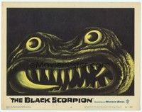 3a287 BLACK SCORPION LC #6 '57 best c/u of wacky creature that looks more laughable than horrible!