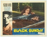 3a288 BLACK SUNDAY LC #7 '61 best close up of sexy Barbara Steele & deformed guy in coffin!