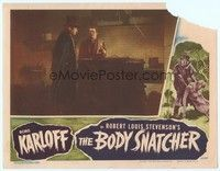 3a264 BODY SNATCHER LC '45 Henry Daniell in top hat stands with Russell Wade by vat!