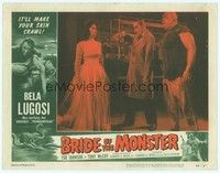3a251 BRIDE OF THE MONSTER LC #1 '56 Ed Wood, Tor Johnson watches Bela Lugosi hypnotize girl!