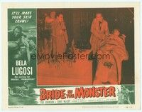 3a250 BRIDE OF THE MONSTER LC #2 '56 Ed Wood, Tor Johnson behind man with gun in Lugosi's lab!