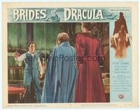 3a292 BRIDES OF DRACULA LC #6 '60 Peter Cushing as Van Helsing shows the vampire's heart!