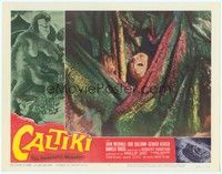3a293 CALTIKI THE IMMORTAL MONSTER LC #2 '59 great close up of man devoured by the wacky beast!