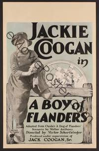 3a152 BOY OF FLANDERS WC '24 full-length close up of sad Dutch orphan Jackie Coogan by windmill!
