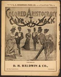 3b631 COLORED ARISTOCRACY CAKE WALK sheet music 1899 written & composed by Gus Bernard!