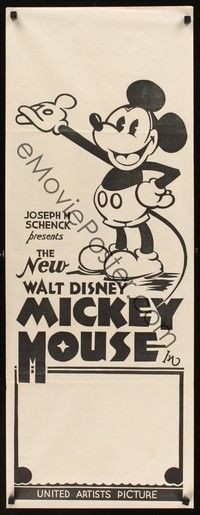 4e841 NEW WALT DISNEY MICKEY MOUSE Aust daybill 32 great cartoon image of Minnie  Mickey