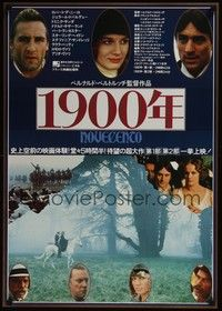 4g002 1900 Japanese '77 directed by Bernardo Bertolucci, Robert De Niro, different image!