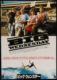 4g029 BIG WEDNESDAY Japanese '78 John Milius classic surfing movie, Jan-Michael Vincent!