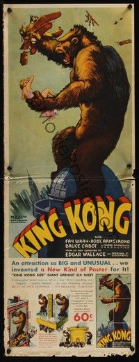 4y172 KING KONG pressbook '33 incredibly elaborate & includes herald and full-color jigsaw puzzle!