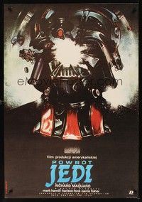 5a178 RETURN OF THE JEDI Polish 27x38 '84 wild different art of Darth Vader by Dybowski!