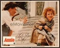 5g021 ANNIE signed LC #1 '82 by Ann Reinking, who's in close up with Aileen Quinn!