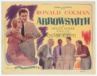 5g017 ARROWSMITH signed TC R44 by Helen Hayes, who's with Ronald Colman, John Ford, Sinclair Lewis