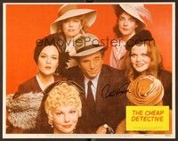 5g030 CHEAP DETECTIVE signed LC #1 '78 by Peter Falk, who's surrounded by his female co-stars!