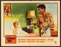 5g032 CROWDED SKY signed LC #4 '60 by Efrem Zimbalist Jr., who's barechested w/sexy Rhonda Fleming!