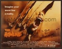 5g014 HOWLING signed TC REPRO '81 by Dee Wallace, great werewolf artwork!