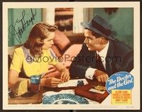 5g034 DOCTOR & THE GIRL signed LC #6 '49 by pretty Janet Leigh, who's talking with Glenn Ford!