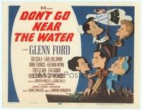 5g018 DON'T GO NEAR THE WATER signed TC '57 by Anne Francis, great Jacques Kapralik art!